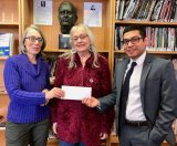 Janet Falk, RICLA President; Lorraine Lasker, Board member; and Carlos