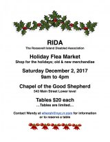 Saturday, December 2nd, Flea Market Benefits the Disabled Association