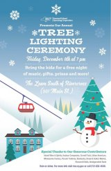 Roosevelt Island Christmas Tree Lighting, Friday at 7, Rivercross Lawn
