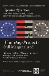 Until March 1st, 1619 Project Black History Month, Gallery RIVAA