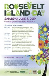Saturday, June 8th, Roosevelt Island Day