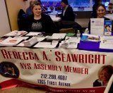 State Assembly Member Rebecca Seawright's Reps at CBN's Senior Law Day, earlier this year.