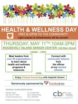 May 11th, All Ages Invited to Health & Wellness Day at the CBN / RI Senior Center