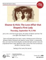"TODAY, ""Eleanor & Hick,"" Susan Quinn at Roosevelt Island NYPL"