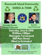 Saturday, June 8th, Roosevelt Island Shred-A-Thon