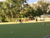 Octagon Field: Pickup games continued for weeks after the official closing but before protective fencing went up.