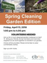 April 13th, RI Senior Center Invites Volunteers for Garden Spring Cleaning