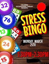 "March 25th, Columbia OT Students Bring ""Stress Bingo"" To the Senior Center"