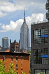 Empire State Building from High Line Park