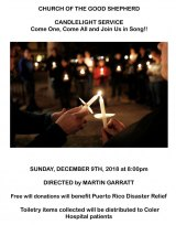 December 9th, 38th Annual Candlelight Service, Church of the Good Shepherd