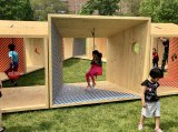 Salvage Swings, City of Dreams Pavilion Winner, FIGMENT NYC 2019, in Lighthouse Park