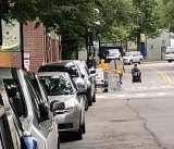 For two weeks now, wheelchairs, strollers and pedestrians detoured into the street at 40 River Road.