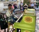 Roy Eaton, piano magic in Bryant Park.