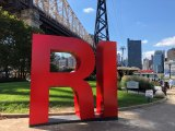 RI Welcome Sign, Roosevelt Island Tram Plaza