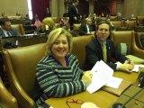 Rebecca Seawright at work in the state legislature.
