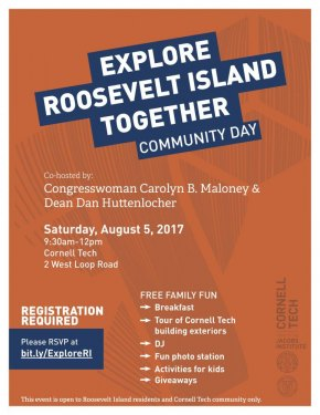 "Date Set For ""Explore Roosevelt Island Community Day"""