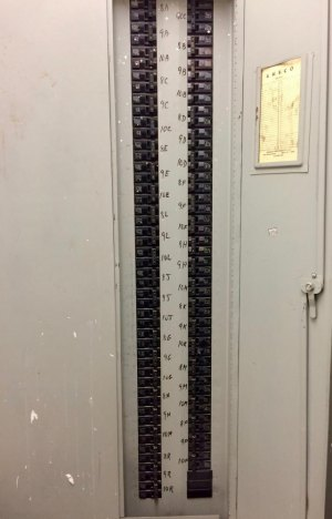 Behind the locked doors: Manhattan Park Electric Breaker Panel