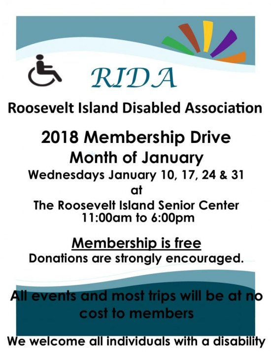 January 24th, RI Disabled Association January Membership Drive