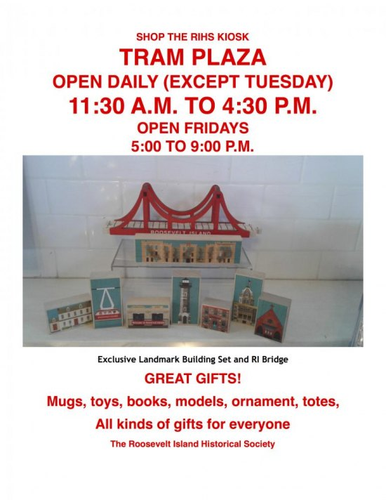 Ongoing: Shop the Holidays at the Kiosk, Help Our Historical Society