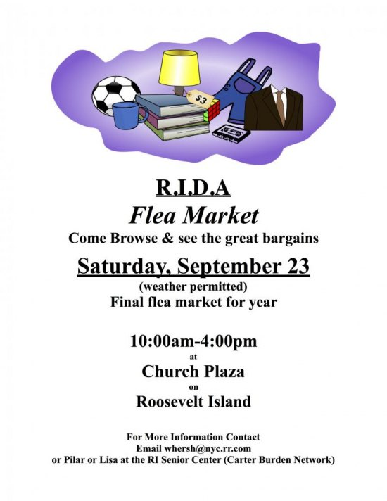 Saturday, September 23rd, RI Disabled Association Flea Market, Good Shepherd Plaza