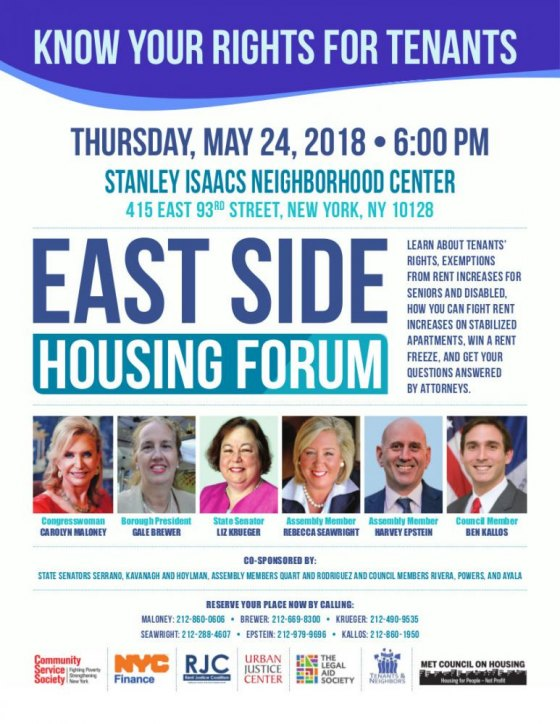 Tenants' Rights Forum, An Important Event for Roosevelt Islanders