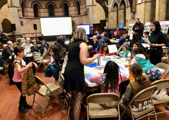 Work groups plot Lighthouse Park's future in the Chapel of the Good Shepherd.
