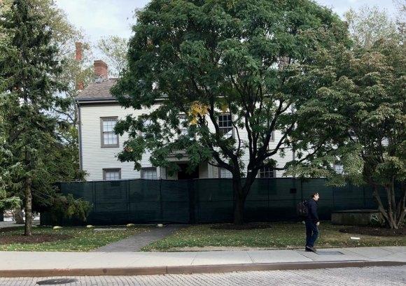Blackwell House under wraps again...