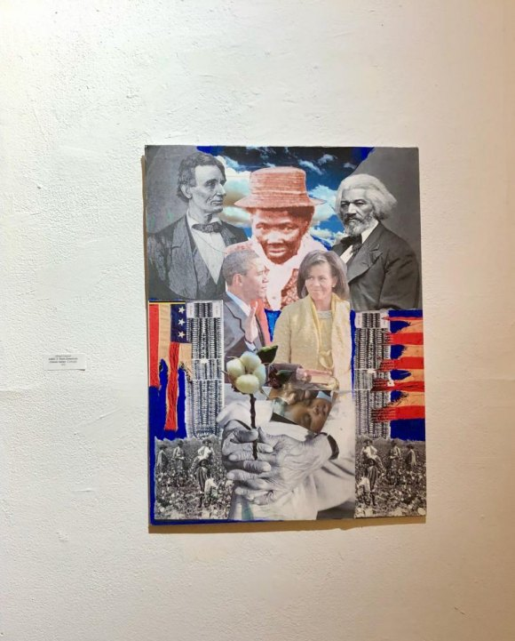 Art on the theme, AMEC 3, a collage by Albert Depas.