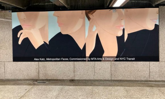 Alex Katz fans will recognize faces from the past, now fixtures on the F Line.
