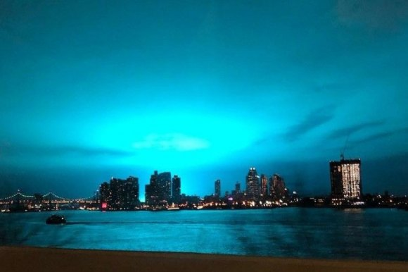 The Not So Simple Story of Last Night's Bright Blue Light Over Astoria