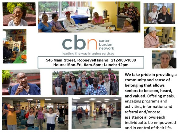 At the CBN/RI Senior Center, April
