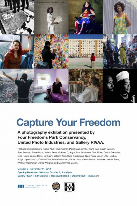 Last chance, closes today: Capture Your Freedom at Gallery RIVAA