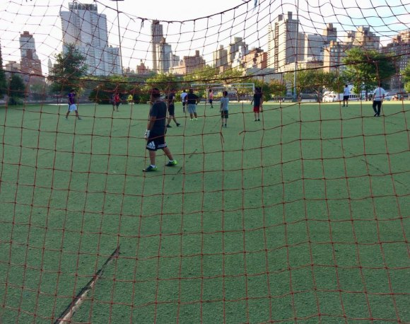In the week after RIOC announced Octagon Field's closing, pick up games continued.