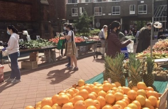Face masks, which he never envisioned, prevail today, but Roosevelt Island's Farmers Market reflects the community activities Ed Logue imagined for a small, self-reliant community.