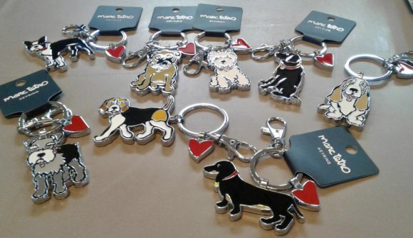 For our fast growing community of dogs, key chains from Marc Tetro.