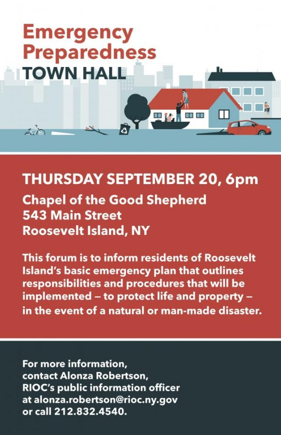 September 20th: RIOC's Emergency Management Plan for Roosevelt Island