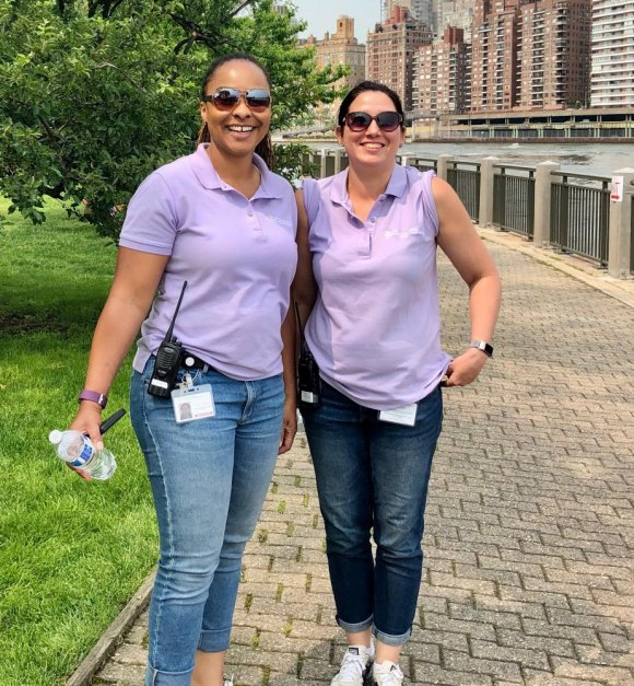 RIOC community liaisons, Erica Spencer-EL and Jessica Murray, added weekend duty to their workload... cheerfully.