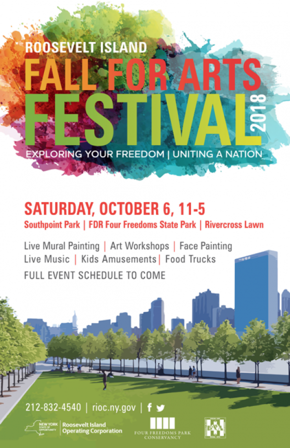 Saturday, October 6th, Fall for Arts on Roosevelt Island