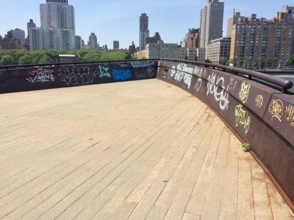 RIOC Challenged by Graffiti, Some Racist and Obscene, on Roosevelt Island