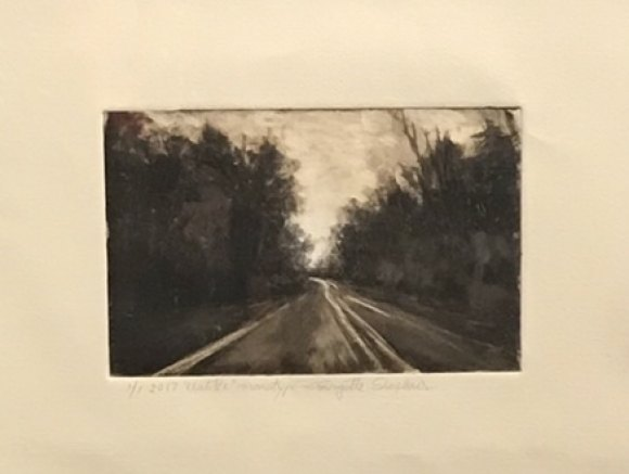 """Following the Light,"" a monotype from the Salmagundi Club's historic Black & White exhibit."