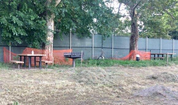 """""""Several trees adjacent to the Octagon, some picnic tables and barbecue grills, along with the iconic Sabrina statue were to be replaced and or relocated nearby to clear space,"""" DEP promised. Never happened. Where was RIOC?"""