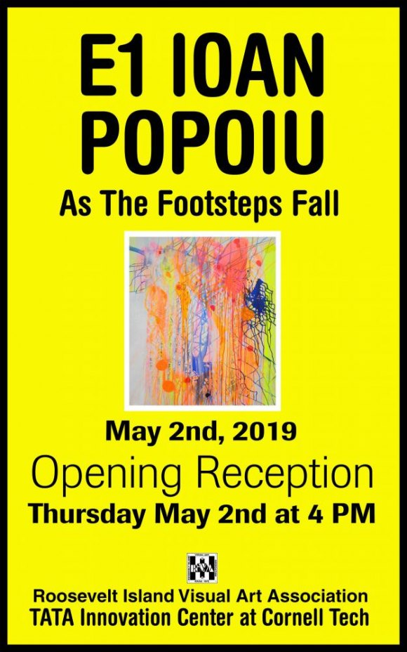 "May 2nd at 4:00, Opening Reception for Ioan Popoiu's ""As The Footsteps Fall,"" Tata Innovation Center/Cornell Tech"