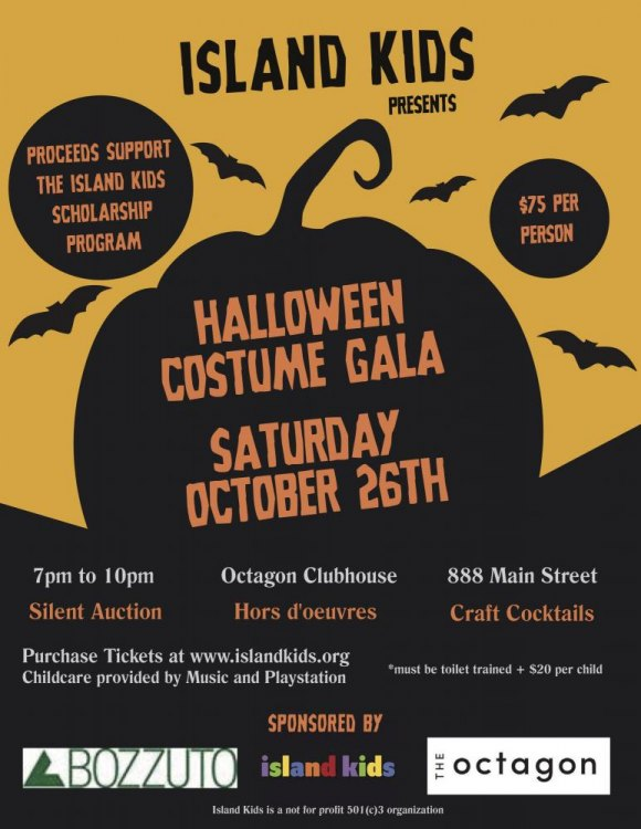 October 26th, Halloween Costume Gala Supports Island Kids Scholarship Program
