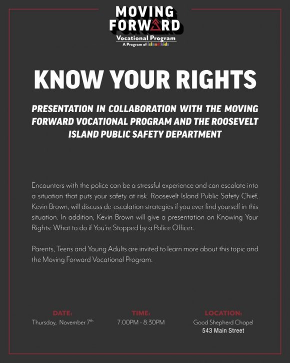 "November 7th, Moving Forward Presents ""Know Your Rights"""