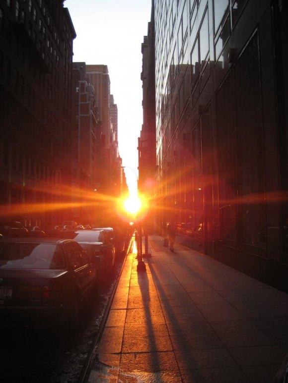 Manhattanhenge, 42nd Street, New York City