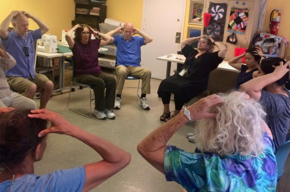 "Among classes at the CBN/RI Senior Center, ""Mindfulness Meditation with Prafulla"" fills the room."