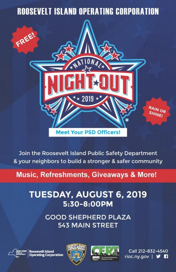 Tuesday, August 6th: You're Invited to National Night Out 2019