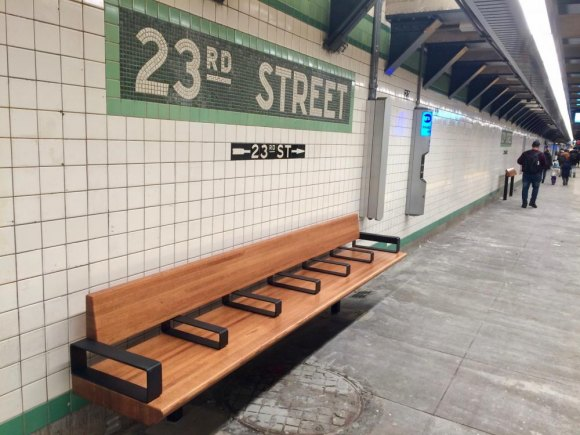 The old benches were as tired as these are fresh and designed for comfort.
