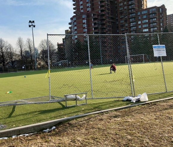 "UPDATE: Soccer Players Defy RIOC, ""Reopen"" Octagon Field"