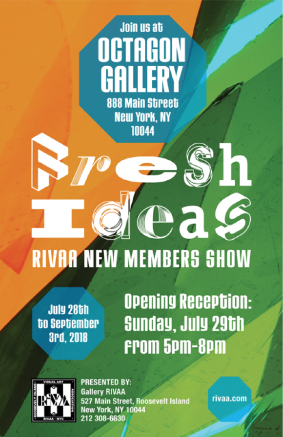 "Continuing: ""Fresh Ideas,"" RIVAA Group Exhibit, Octagon Gallery"
